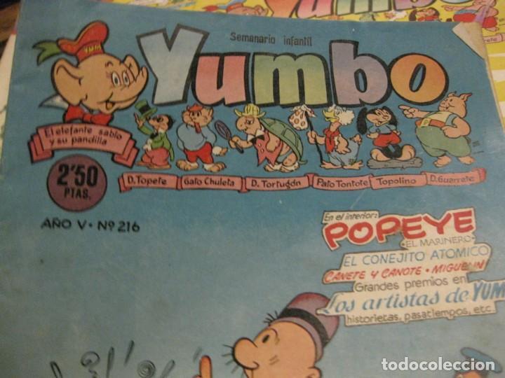 Tebeos: 8 comic tbo yumbo 1 extra navidad ed cliper . gerpla popeye elmer años 50 semanario infantil - Foto 3 - 184398125