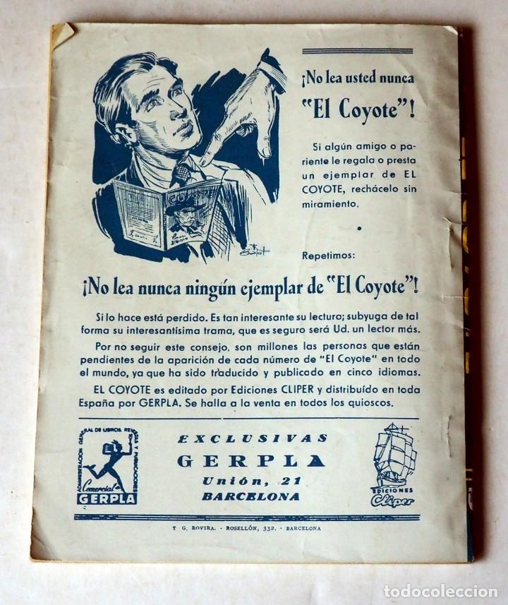 Tebeos: EL COYOTE: LA LEYENDA DE CHICO ROMERO POR J. MALLORQUÍ. Nº 108-PRIMERA EDICIÓN JUNIO 1950 - Foto 2 - 185401972