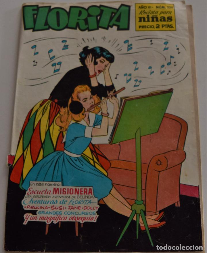 FLORITA Nº 339 - AÑO VI - REVISTA PARA NIÑAS - EDITORIAL CLIPER (Tebeos y Comics - Cliper - Florita)