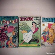 Livros de Banda Desenhada: 3 TBO DE FLORITA -ALMANAQUE DE FLORITA 1958- EXTRAORDINARIO DE PRIMAVERA .NUMERO ESPECIAL -. Lote 190925171
