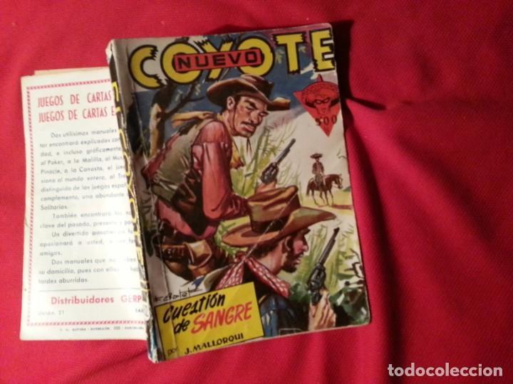 CUESTION DE SANGRE - J. MALLORQUI - NUEVO COYOTE 32 (162) (Tebeos y Comics - Cliper - El Coyote)