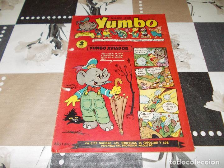 YUMBO AÑO 1 Nº 6. 1953. CLIPER (Tebeos y Comics - Cliper - Yumbo)
