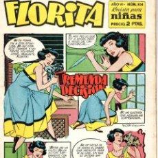 Tebeos: FLORITA Nº 304, TREMENDA DECISIÓN. REVISTA PARA NIÑAS. Lote 193347248