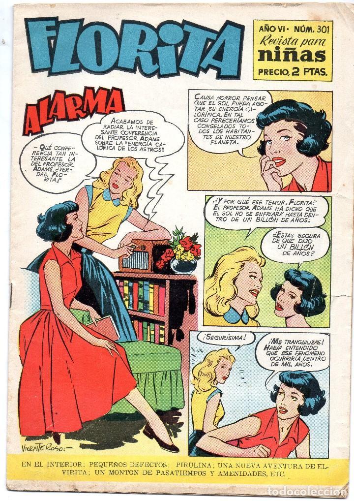 FLORITA Nº 301, ALARMA. REVISTA PARA NIÑAS (Tebeos y Comics - Cliper - Florita)