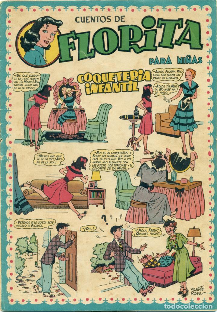 FLORITA Nº 3 DE EDITORIAL CLIPER, CON LOMO REPARADO INTERIORMENTE CON PAPEL DE EPOCA (Tebeos y Comics - Cliper - Florita)