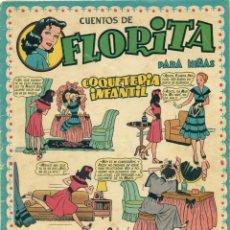 Tebeos: FLORITA Nº 3 DE EDITORIAL CLIPER, CON LOMO REPARADO INTERIORMENTE CON PAPEL DE EPOCA. Lote 193395233