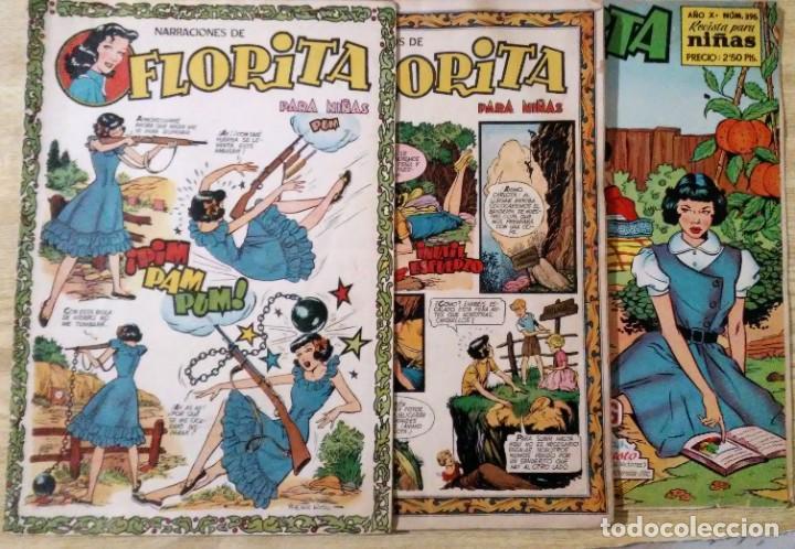 LOTE 3 CUENTOS DE FLORITA Nº 87, 102 Y 396 ED. CLIPER ESPIRITUAZUL (Tebeos y Comics - Cliper - Florita)