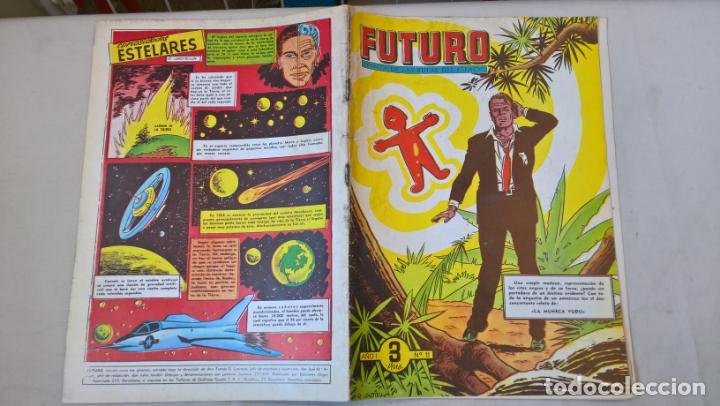 COMIC: FUTURO Nº 11. LA REVISTA DE LAS RUTAS DEL ESPACIO. REEDICION ESPAÑOLA AGOTADA. AÑOS 50 (Tebeos y Comics - Cliper - Otros)