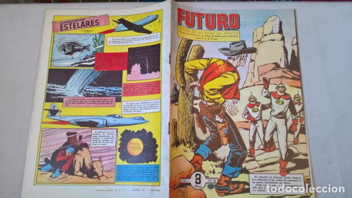 COMIC: FUTURO Nº 15. LA REVISTA DE LAS RUTAS DEL ESPACIO. REEDICION ESPAÑOLA AGOTADA. AÑOS 50 (Tebeos y Comics - Cliper - Otros)