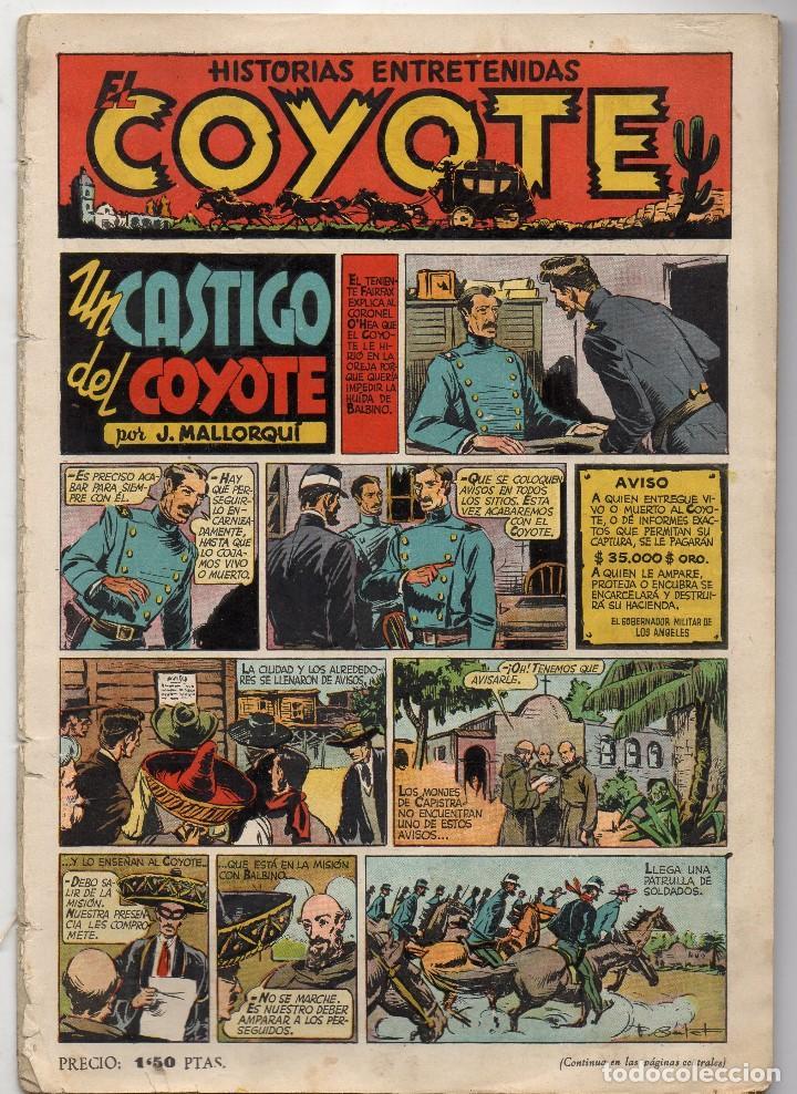 EL COYOTE. Nº 10. UN CASTIGO DEL COYOTE. ORIGINAL. 1947. LOMO ABIERTO (Tebeos y Comics - Cliper - El Coyote)