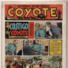 Tebeos: EL COYOTE. Nº 10. UN CASTIGO DEL COYOTE. ORIGINAL. 1947. LOMO ABIERTO. Lote 194958140