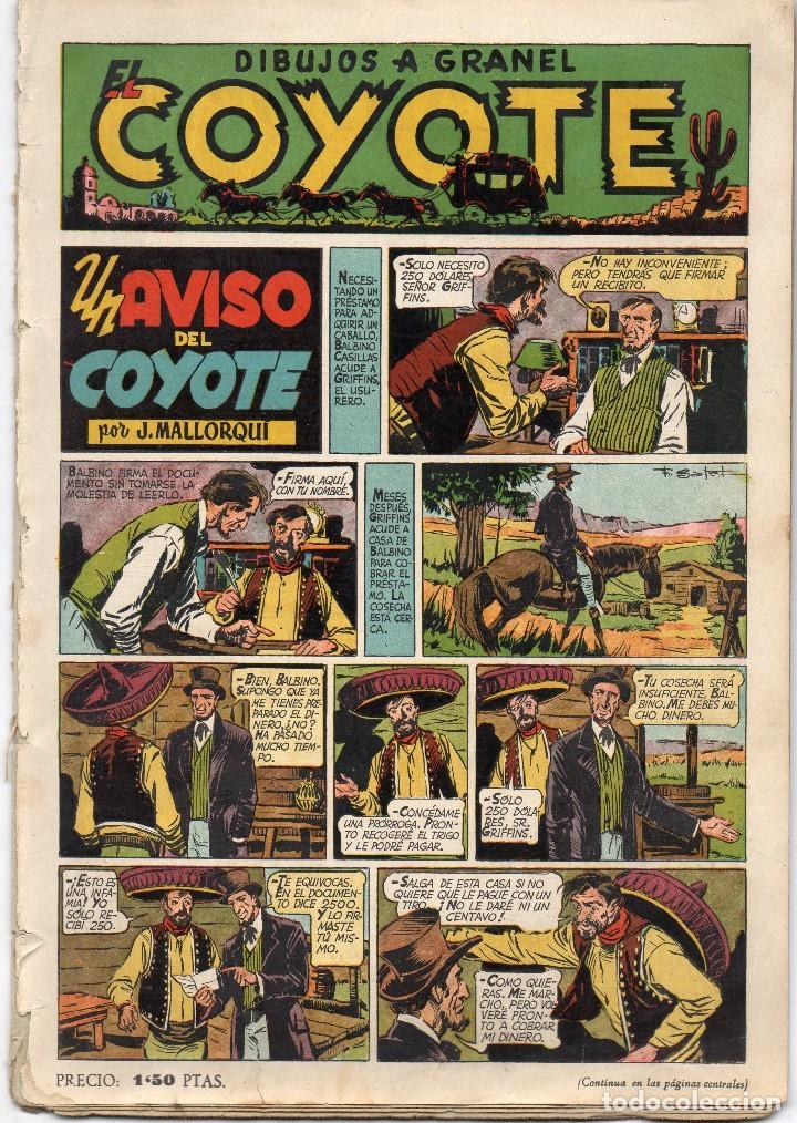 EL COYOTE. Nº 9. UN AVISO DEL COYOTE. ORIGINAL. 1947. LOMO ABIERTO (Tebeos y Comics - Cliper - El Coyote)