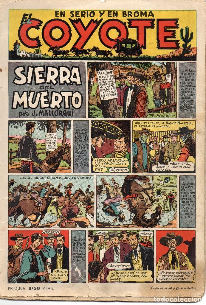 EL COYOTE. Nº 8. SIERRA DEL MUERTO. ORIGINAL. 1947. LOMO ABIERTO (Tebeos y Comics - Cliper - El Coyote)