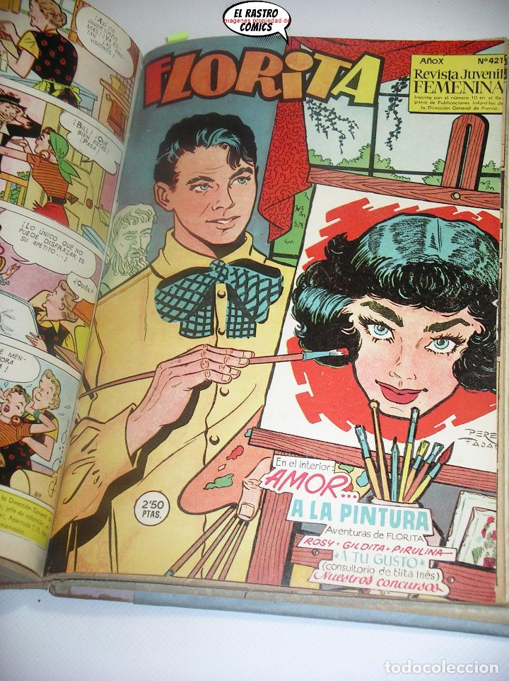 FLORITA, LOTE NºS 373 AL 422, ED. CLIPER, AÑOS 1950. TOMO, B8 (Tebeos y Comics - Cliper - Florita)