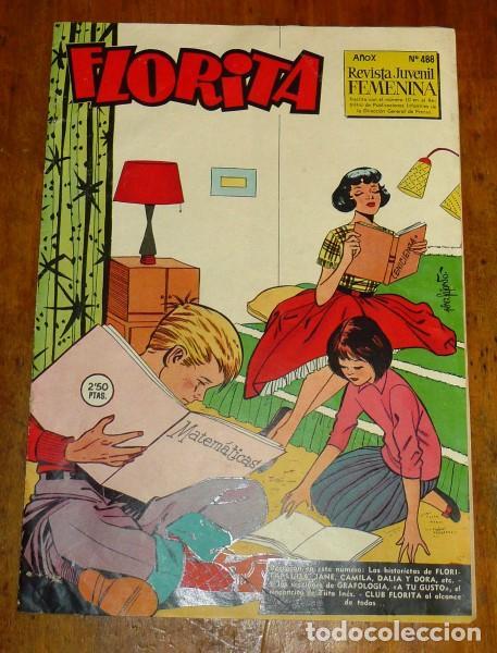 FLORITA : REVISTA PARA NIÑAS. AÑO X ; NÚM. 488 (Tebeos y Comics - Cliper - Florita)