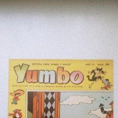 Tebeos: YUMBO Nº 284 CLIPER JORGE GRANÉS, RAF, GARCÍA LORENTE, MARTZ SCHMIDT, CUBERO .... Lote 196006995