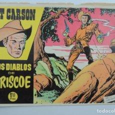 Giornalini: KIT CARSON Nº 1 ! TEBEO ORIGINAL 1958 LOS DIABLOS DE BRISCOE EDICIONES CLIPER GRAFICAS GUADA. Lote 196135232