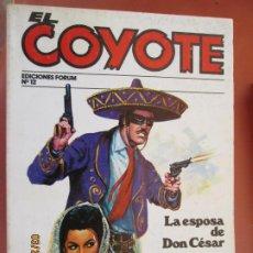Tebeos: EL COYOTE EDICIONES FORUM Nº J MALLORQUI-1983 LA ESPOSA DE DON CESAR , LA HACIENDA TRAGICA . Lote 198180111