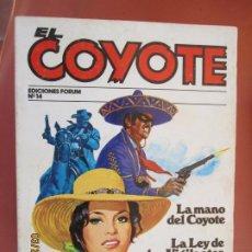 Tebeos: EL COYOTE EDICIONES FORUM Nº14 J MALLORQUI-1983 , LA MANO DEL COYOTE , LA LEY DE VIGILANTES . Lote 198180492