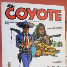 Tebeos: EL COYOTE EDICIONES FORUM Nº27 J MALLORQUI-1983- EL CODIGO DEL COYOTE , MASCARA BLANCA . Lote 198185442