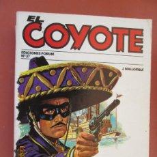 Tebeos: EL COYOTE EDICIONES FORUM Nº37 J MALLORQUI-1983- UN HOMBRE ACOSADO - RIO TURBULENTO . Lote 198187118