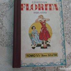 Tebeos: COLECCION FLORITA PARA NIÑAS, TOMO XV, Nº 281 AL 300, CON TAPAS ,DE ORIGEN ,AÑOS 50. Lote 198311218