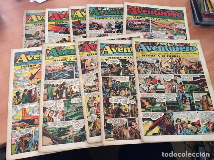 AVENTURERO LOTE 1 AL 10 ED, CLIPER (COIB72) (Tebeos y Comics - Cliper - Aventurero)