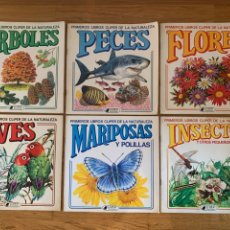 BDs: LOTE // 6 LIBROS CLIPER DE NATURALEZA // ÁRBOLES, PECES, FLORES, AVES, MARIPOSAS, INSECTOS // 1982. Lote 201980726
