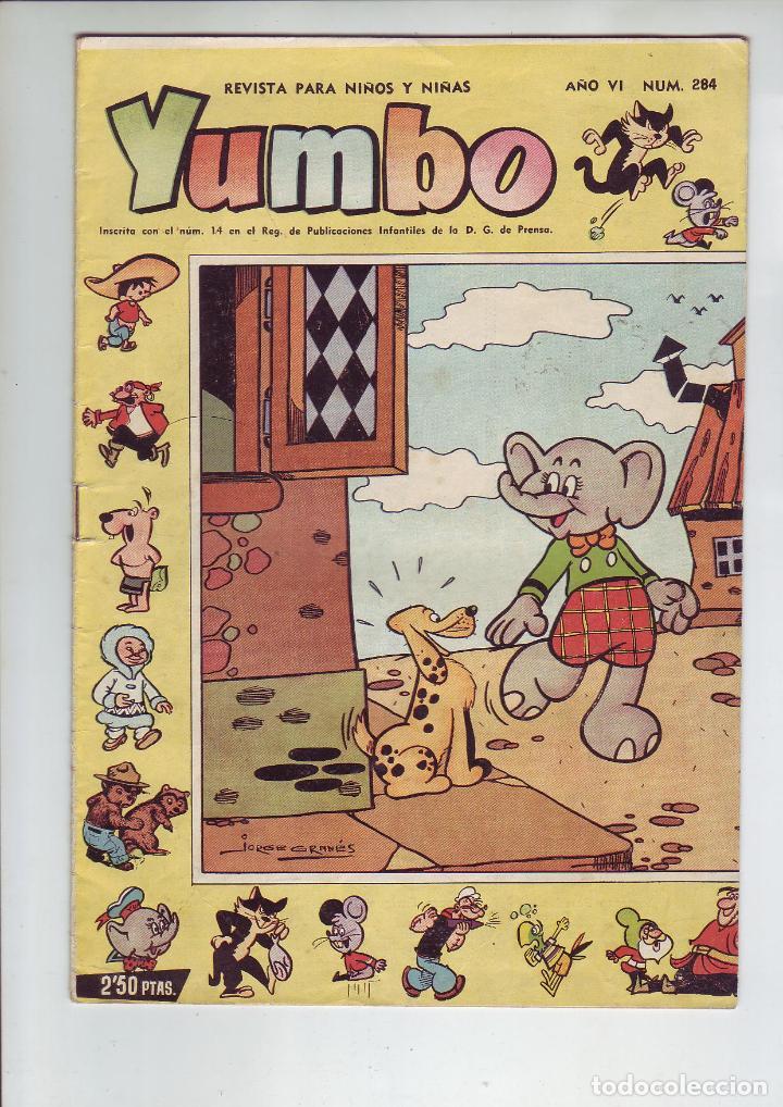 YUMBO - Nº 284 - AÑO VI - ED. CLIPER - AÑO 1958 - EN MUY BUEN ESTADO (Tebeos y Comics - Cliper - Yumbo)