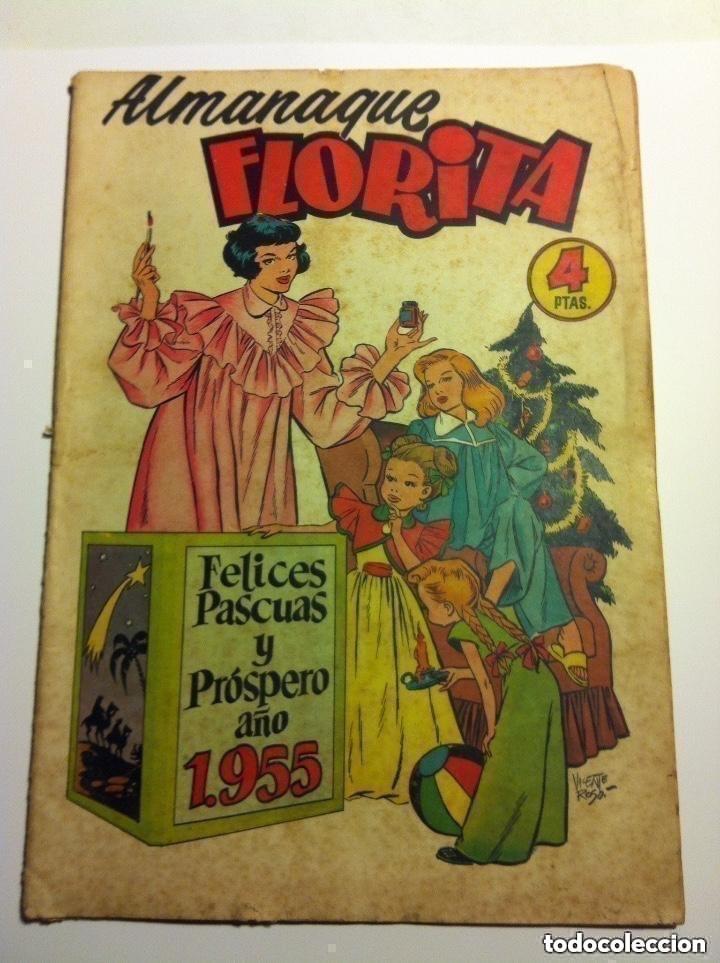 FLORITA -ALMANAQUE 1955 (Tebeos y Comics - Cliper - Florita)