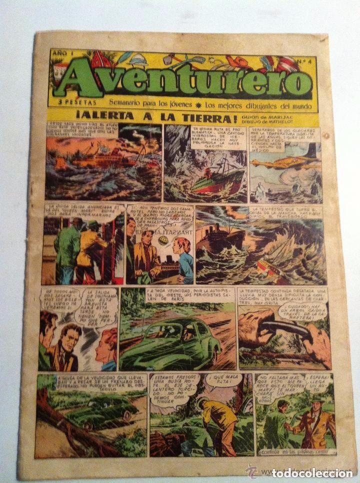 AVENTURERO -ALERTA A LA TIERRA - Nº. 4- USADO (Tebeos y Comics - Cliper - Aventurero)