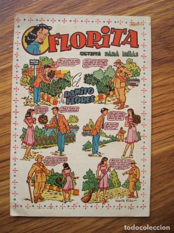 FLORITA (FOLLETO ANUNCIO FLYER PUBLICIDAD COLECCIÓN FLORITA) FLORITA PARA NIÑAS EL RAMITO DE FLORES (Tebeos y Comics - Cliper - Florita)
