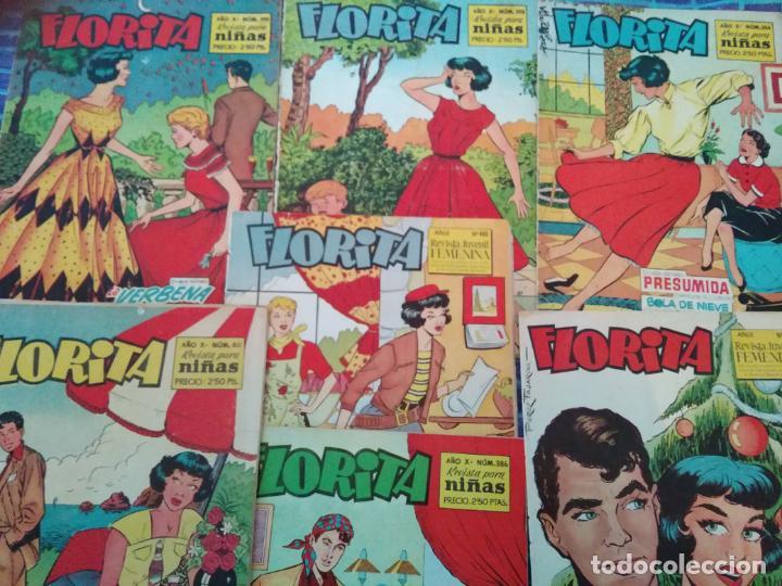 FLORITA - 7 EJEMPLARES (Tebeos y Comics - Cliper - Florita)