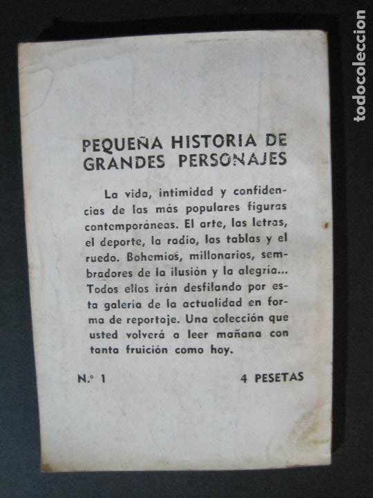 Tebeos: PEPE IGLESIAS EL ZORRO-PEQUEÑA HISTORIA DE GRANDES PERSONAJES-Nº 1-CLIPER 1958-VER FOTOS-(V-20.308) - Foto 15 - 207012028