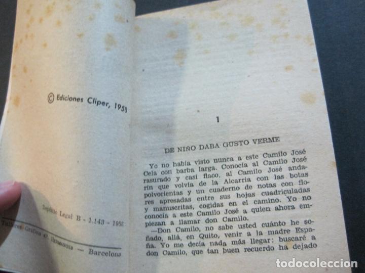 Tebeos: CAMILO JOSE CELA-PEQUEÑA HISTORIA DE GRANDES PERSONAJES-Nº 5-ED· CLIPER 1958-VER FOTOS-(V-20.312) - Foto 8 - 207013663