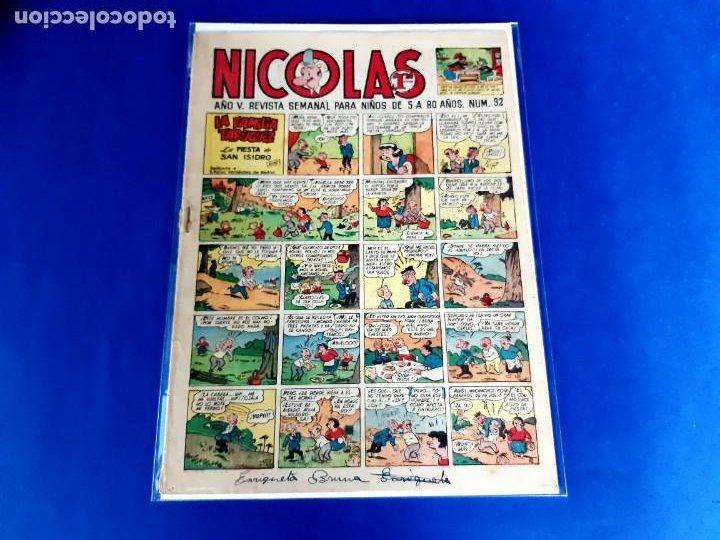 NICOLAS Nº 92 ORIGINAL EDICIONES CLIPER 1948 (Tebeos y Comics - Cliper - Otros)