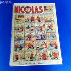 Tebeos: NICOLAS Nº 102 ORIGINAL EDICIONES CLIPER 1948. Lote 209615181