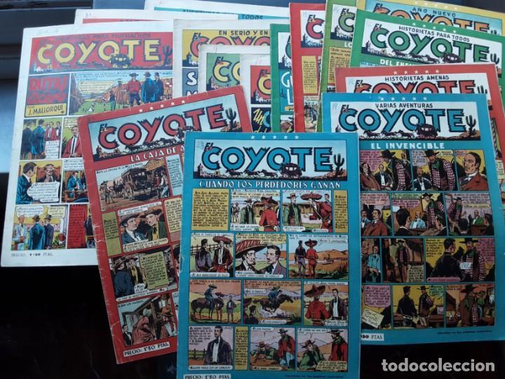 LOTE DE 9 EJEMPLARES EL COYOTE, ORIGINAL EDICIONES CLIPER, PRIMEROS NUMEROS (Tebeos y Comics - Cliper - El Coyote)