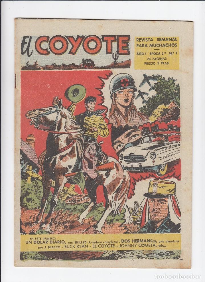 LOTE DE 15 TEBEOS DE EL COYOTE. EDICIONES CLIPER. ORIGINALES. (Tebeos y Comics - Cliper - El Coyote)