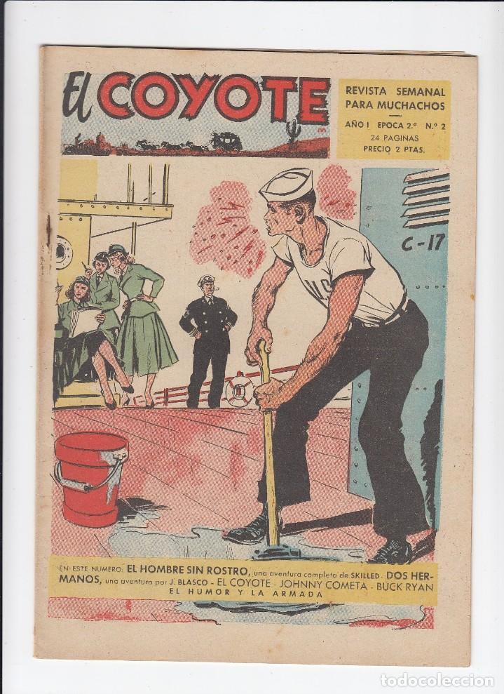 Tebeos: Lote de 15 tebeos de El Coyote. Ediciones Cliper. Originales. - Foto 2 - 210830975