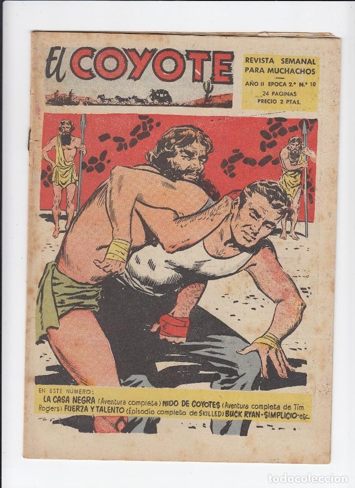 Tebeos: Lote de 15 tebeos de El Coyote. Ediciones Cliper. Originales. - Foto 4 - 210830975
