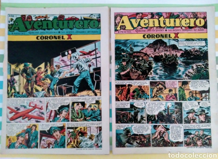 CORONEL X Nº 18 Y 24 AVENTURERO AÑO I ED. FUTURO CLIPER (Tebeos y Comics - Cliper - Otros)