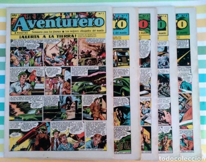 ALERTA A LA TIERRA Nº 1, 2, 3, 4, 5, 6, 7 Y 8 AVENTURERO AÑO I ED. FUTURO CLIPER (Tebeos y Comics - Cliper - Otros)