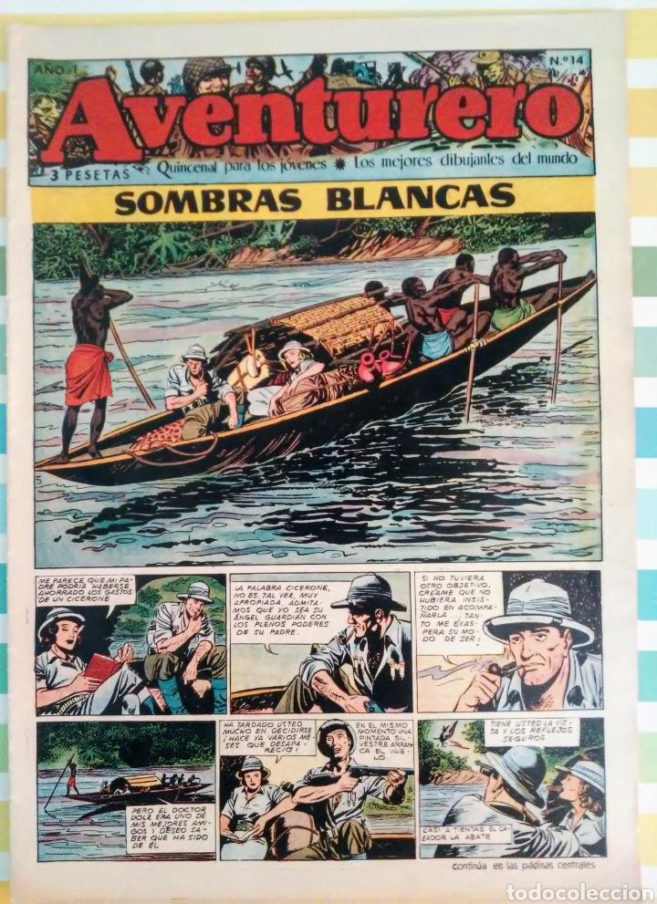 Tebeos: Sombras blancas nº 14,15,16 y 17 aventurero año I ed. futuro cliper - Foto 4 - 211582050