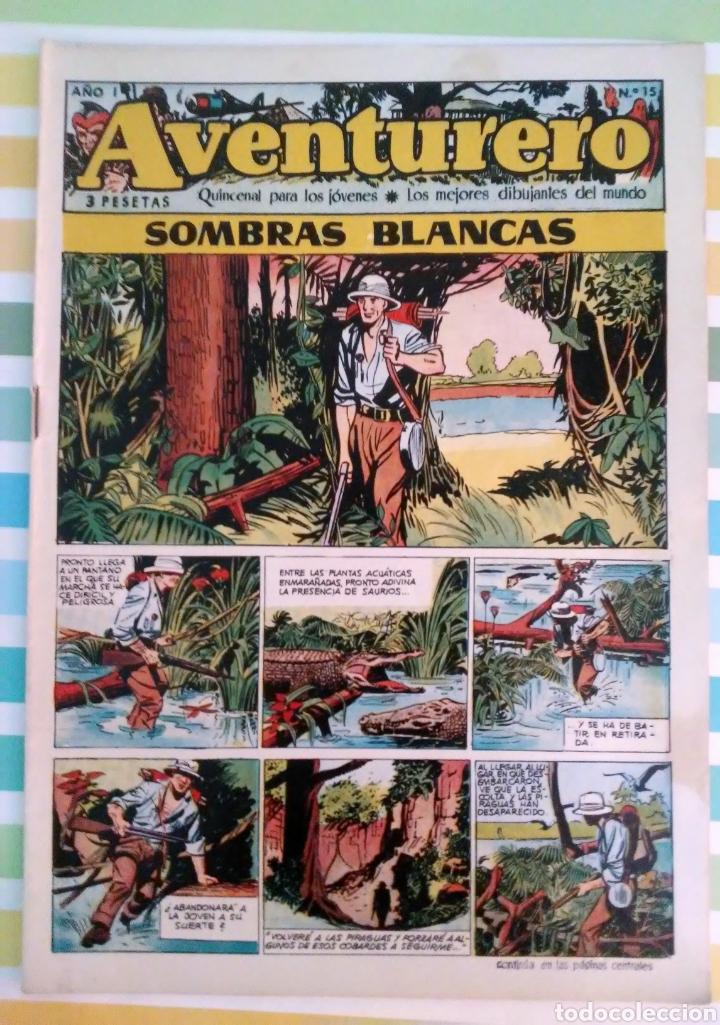 Tebeos: Sombras blancas nº 14,15,16 y 17 aventurero año I ed. futuro cliper - Foto 5 - 211582050