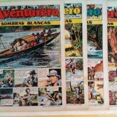 Tebeos: SOMBRAS BLANCAS Nº 14,15,16 Y 17 AVENTURERO AÑO I ED. FUTURO CLIPER. Lote 211582050