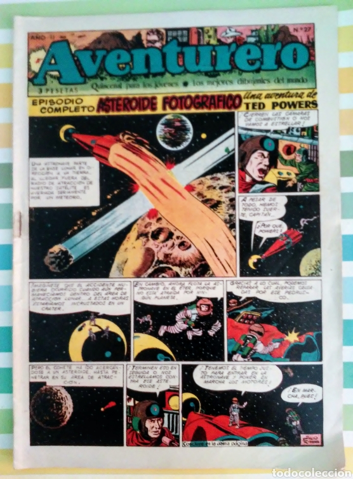 Tebeos: lote aventurero nº 25, 26 y 27 Ted Powers el monstruo, mundos gemelos y asteroide fotografico - Foto 2 - 211584034
