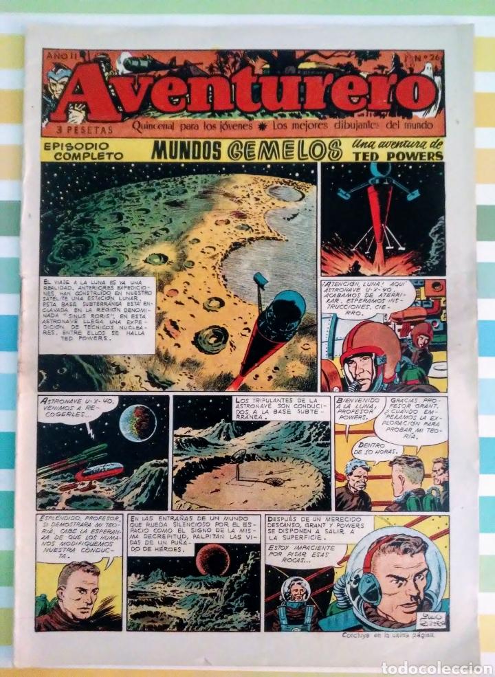 Tebeos: lote aventurero nº 25, 26 y 27 Ted Powers el monstruo, mundos gemelos y asteroide fotografico - Foto 4 - 211584034