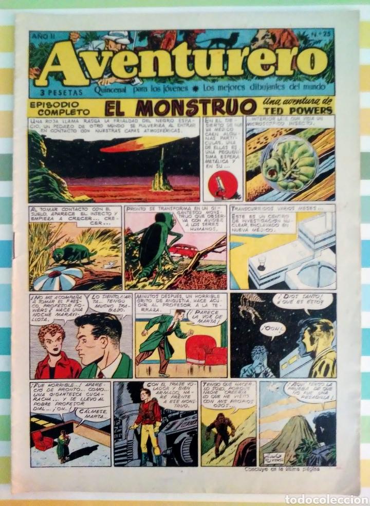 Tebeos: lote aventurero nº 25, 26 y 27 Ted Powers el monstruo, mundos gemelos y asteroide fotografico - Foto 7 - 211584034