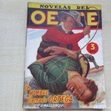 Tebeos: UN HOMBRE LLAMADO ORTEGA DE J MALLORQUI NOVELAS DEL OESTE DIBUJOS BATET EDITORIAL CLIPER AÑOS 40. Lote 212143901